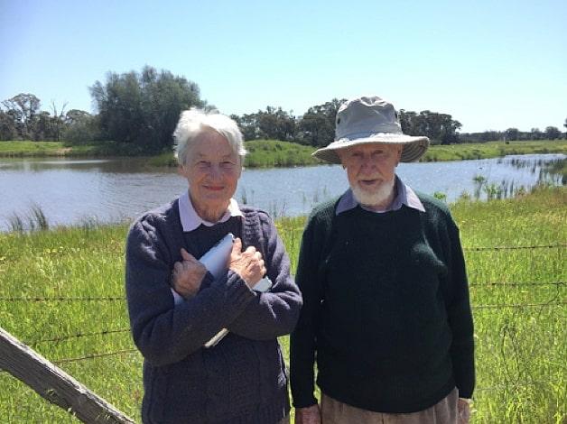 Geoffrey Davis and Sybil Davis at West Wyalong